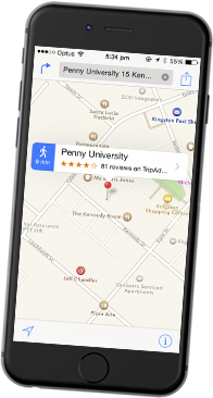 Google map opened in a mobile phone browser